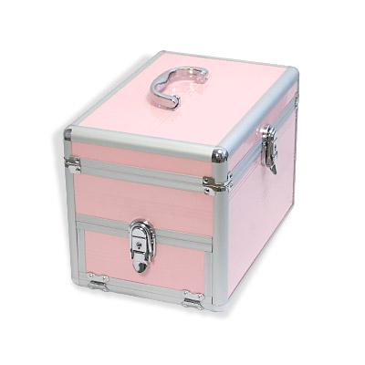 alu kosmetikkoffer m schmuckfach rosa beautycase schmuckkoffer neu ebay. Black Bedroom Furniture Sets. Home Design Ideas