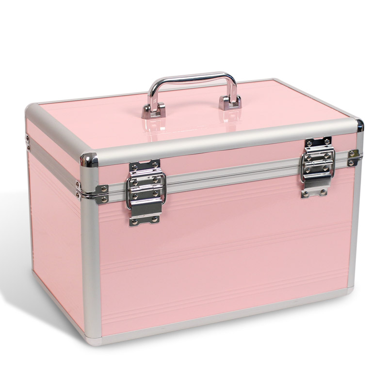 aluminium beautycase kosmetikkoffer schmuckfach rosa neu ebay. Black Bedroom Furniture Sets. Home Design Ideas