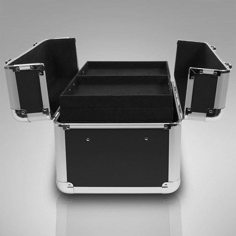 kosmetikkoffer xl alu rahmenkoffer beauty case nagelstudio schwarz f uv lampe. Black Bedroom Furniture Sets. Home Design Ideas