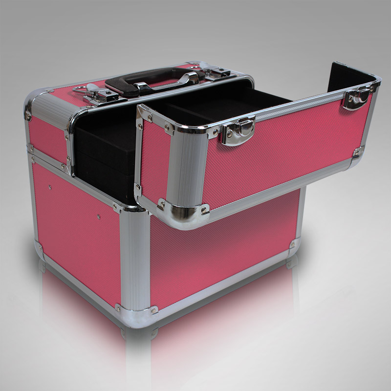 aluminium kosmetikkoffer schminkkoffer beauty case nagelstudio rahmenkoffer pink ebay. Black Bedroom Furniture Sets. Home Design Ideas