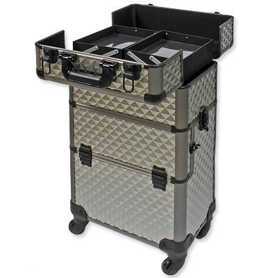 friseurkoffer alu trolley koffer schminkkoffer visagistenkoffer champagner gold ebay. Black Bedroom Furniture Sets. Home Design Ideas