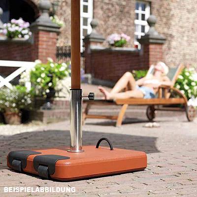 45kg schirmst nder f sonnenschirm beton terrakotta rollbar 5 adapter ringe neu ebay. Black Bedroom Furniture Sets. Home Design Ideas