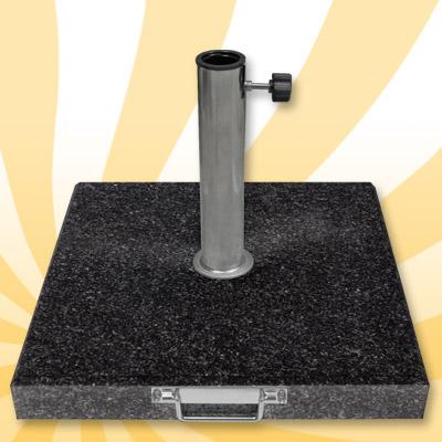 schirmst nder 40kg schwarz granit rollbar 5 adapter ringe 25 55mm sonnenschirm ebay. Black Bedroom Furniture Sets. Home Design Ideas
