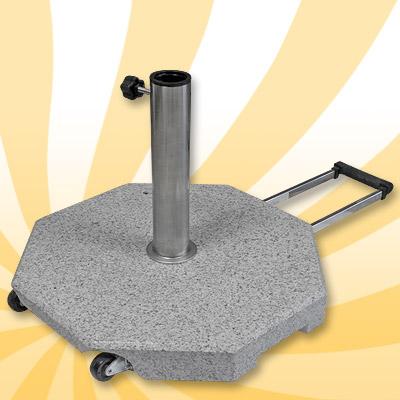 sonnen schirm st nder sonnenschirmfuss 35kg grau granit. Black Bedroom Furniture Sets. Home Design Ideas