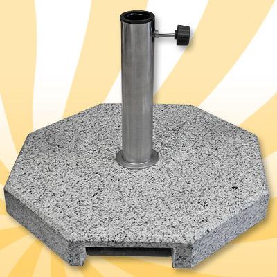 sonnen schirm st nder sonnenschirmfuss 35kg grau granit rollen teleskopgriff ebay. Black Bedroom Furniture Sets. Home Design Ideas