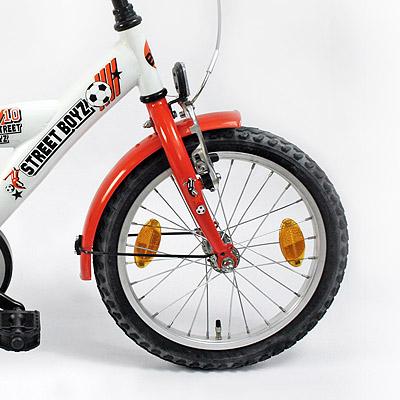 fahrrad kinderfahrrad 16 zoll farbe wei orange. Black Bedroom Furniture Sets. Home Design Ideas