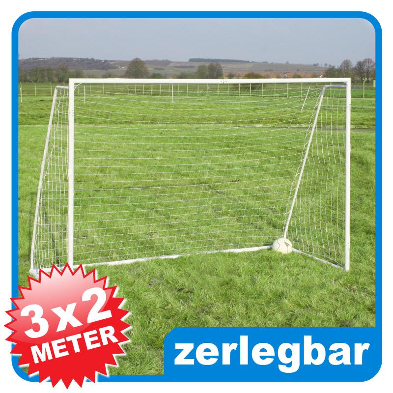xxl fussballtor netz 3x2m zerlegbar 50mm rohr b ware ebay. Black Bedroom Furniture Sets. Home Design Ideas