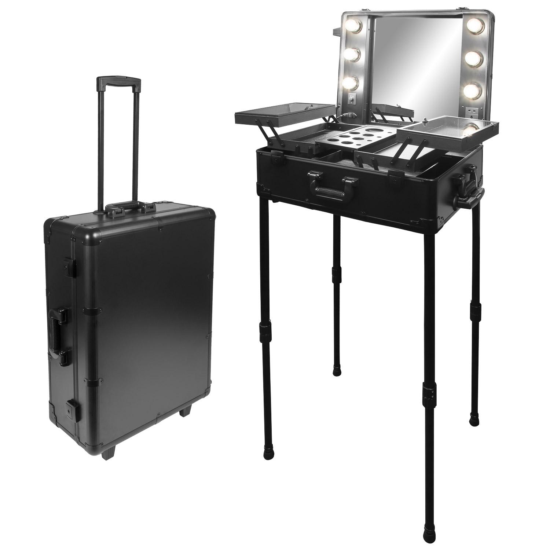 visagisten friseur kosmetik koffer trolley beleuchtung mobilesbeauty studio. Black Bedroom Furniture Sets. Home Design Ideas