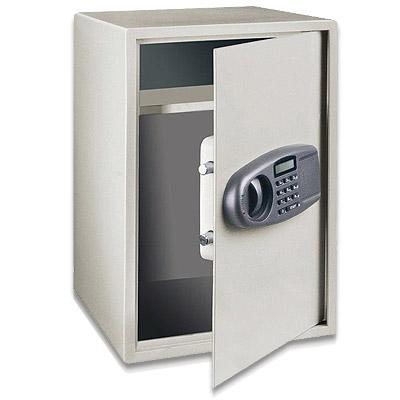 perel gro er elektr safe tresor mit display sse052 ebay. Black Bedroom Furniture Sets. Home Design Ideas