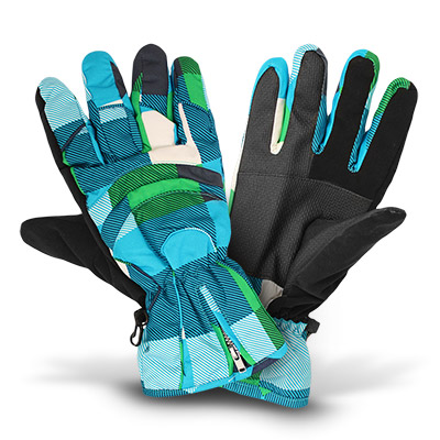 thinsulate skihandschuhe fingerhandschuhe gr n t rkis gemustert gr 10 ebay. Black Bedroom Furniture Sets. Home Design Ideas