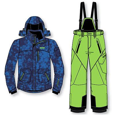skianzug skijacke skihose jungen blau neongr n gr 164 ebay. Black Bedroom Furniture Sets. Home Design Ideas