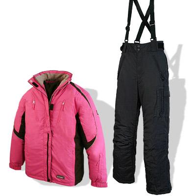 skianzug skijacke skihose m dchen pink schwarz gr 140 ebay. Black Bedroom Furniture Sets. Home Design Ideas