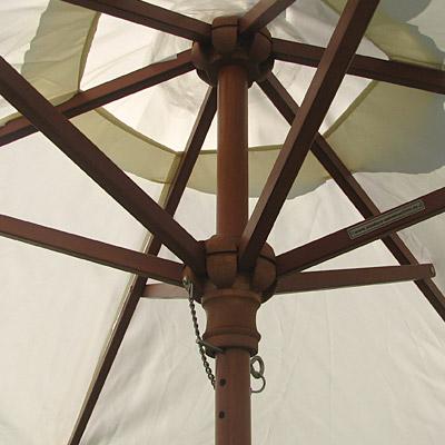 anndora sonnenschirm natural wei 210cm rund h lle schutz balkon holz schirm ebay. Black Bedroom Furniture Sets. Home Design Ideas