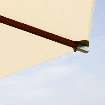 anndora holz sonnenschirm 3m50 350cm rund high quality garten dach naturweiss ebay. Black Bedroom Furniture Sets. Home Design Ideas