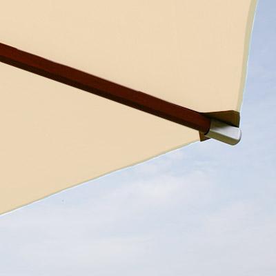 anndora sonnenschirm knick kippbarer holz balkon schirm 3m rund natural wei ebay. Black Bedroom Furniture Sets. Home Design Ideas