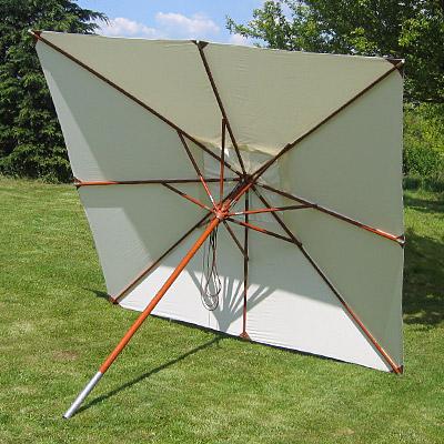 anndora sonnenschirm landhausschirm garten holz schirm 3x3m quadratisch farbwahl ebay. Black Bedroom Furniture Sets. Home Design Ideas
