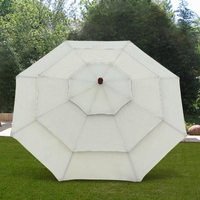 anndora 3 etagen holz sonnenschirm sonnenschutz eckig rund beige 3m 3 5m 3x3m ebay. Black Bedroom Furniture Sets. Home Design Ideas