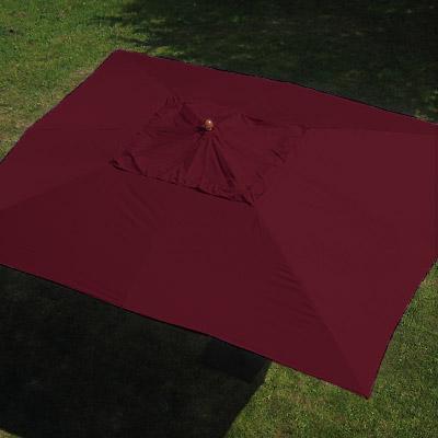 anndora sonnenschirm 3x4 m eckig burgundy rot holz. Black Bedroom Furniture Sets. Home Design Ideas
