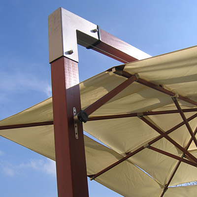anndora sonnenschirm ampelschirm natur wei hartholz 3x3m. Black Bedroom Furniture Sets. Home Design Ideas