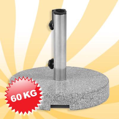 schirmst nder grauer granit rund 60kg sonnenschirm neu ebay. Black Bedroom Furniture Sets. Home Design Ideas