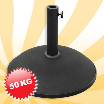 sonnenschirmst nder beton fu schwarz rund 50 kg neu. Black Bedroom Furniture Sets. Home Design Ideas
