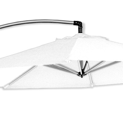 ampelschirm 3 5m pendelschirm h ngeschirm luxor st nder wei dacore ebay. Black Bedroom Furniture Sets. Home Design Ideas