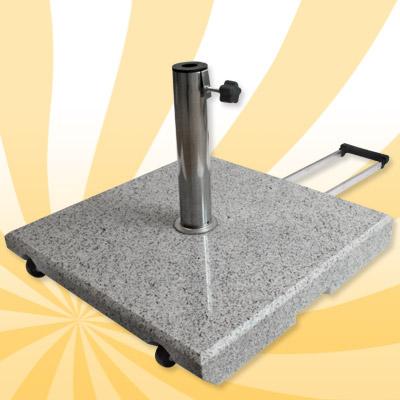 schirmst nder granit grau 55kg eckig sonnenschirm neu ebay. Black Bedroom Furniture Sets. Home Design Ideas