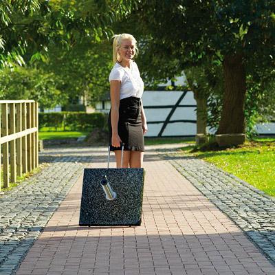 schirmst nder granit schwarz 55kg eckig f r sonnenschirm neu. Black Bedroom Furniture Sets. Home Design Ideas