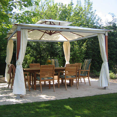 gartenpavillon gartenzelt sonnenschutz partyzelt alubalken 3 6 x 3 6 m natural ebay. Black Bedroom Furniture Sets. Home Design Ideas