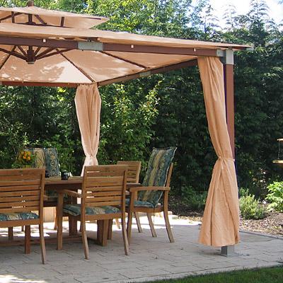 luxus pavillon gartenzelt dark natural 3 6x3 6m neu ebay. Black Bedroom Furniture Sets. Home Design Ideas