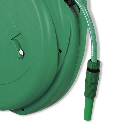 automatische gartenschlauchrolle mit 20 m 1 2 schlauchtrommel wandhalterung ebay. Black Bedroom Furniture Sets. Home Design Ideas