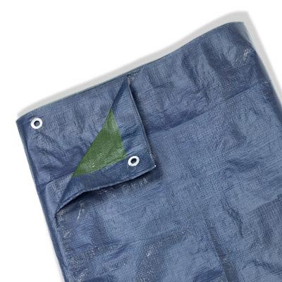 folie plane abdeck gewebe plane mit sen 70g m blau garten m bel abdeckung ebay. Black Bedroom Furniture Sets. Home Design Ideas