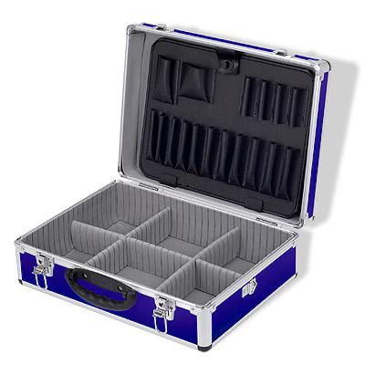 alukoffer werkzeugkoffer werkzeugkiste koffer blau neu ebay. Black Bedroom Furniture Sets. Home Design Ideas
