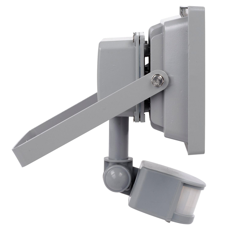 20 watt led strahler mit bewegungsmelder tageslichtwei flutlicht scheinwerfer ebay. Black Bedroom Furniture Sets. Home Design Ideas