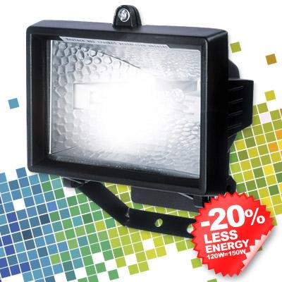 halogen flutlicht 150 watt halogenstrahler neu ebay. Black Bedroom Furniture Sets. Home Design Ideas