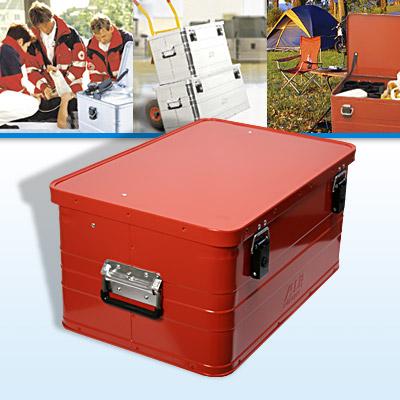 alukiste 47l alubox lagerbox lagerkiste mit deckel rot. Black Bedroom Furniture Sets. Home Design Ideas